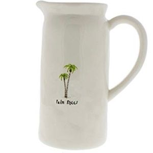Rae Dunn Palm Trees Pitcher 42 oz NWOT